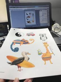 Motive auswählen (Print and Cut) und drucken